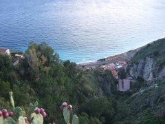 Blick von Taormina aufs Meer